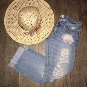 Abercrombie & Fitch Distressed Ankle Jeans